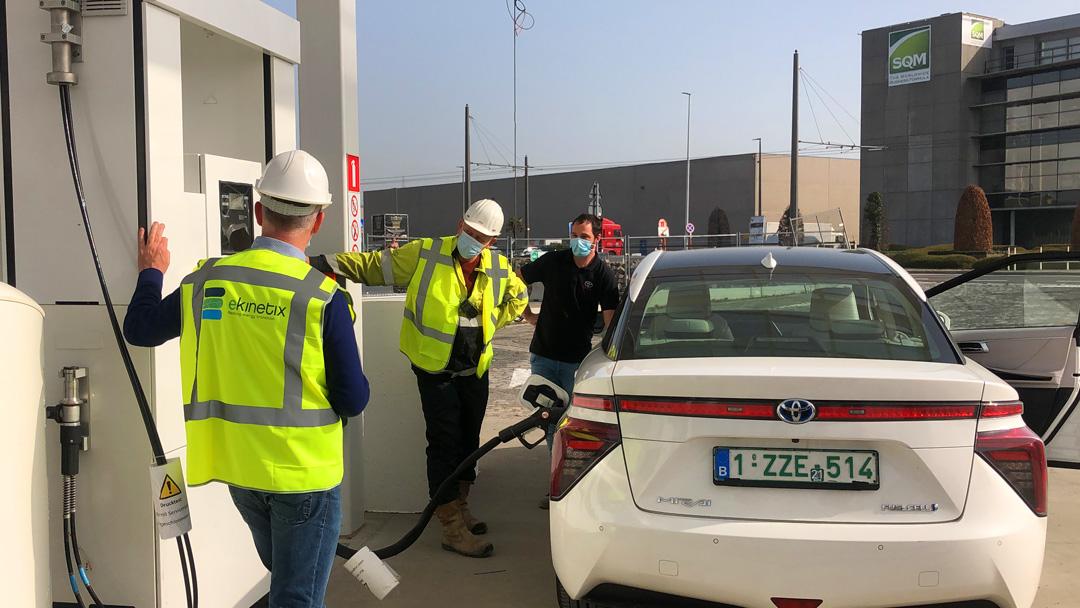Waterstofverdeelstation in Antwerpen gerealiseerd – eerste vulling succesvol