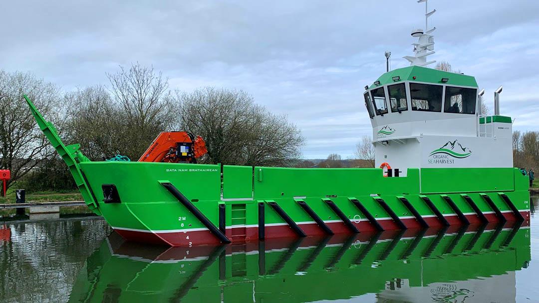 Damen delivers new LUV 1908 aquaculture support vessel  to Organic Sea Harvest