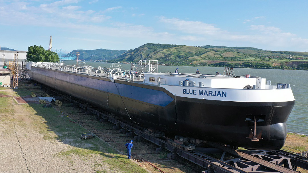 First of 40 Concordia Damen inland waterway tankers launched