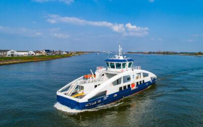 Holland Shipyards Group delivers fully electric ferry 'Sandøy' to Brevik Fergeselskap IKS