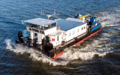 Barkmeijer Shipyards levert serie van 3 diesel-elektrische laagwater duwboten succesvol op aan Chemgas Shipping
