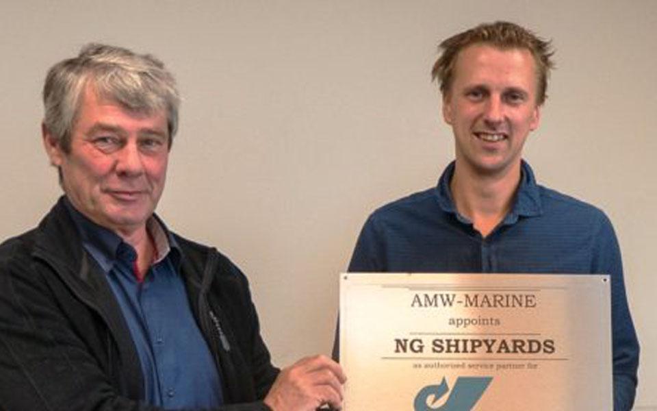 NEXT GENERATION SHIPREPAIR DOOR AMW-MARINE AANGESTELD ALS SERVICEPARTNER VOOR HAMILTONJET